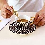 PIVFEDQX Tasse Becher Bone China Kaffeetasse Und Untertasse Im Europäischen Stil Kleine Nachmittagstee Tasse Keramik Britische Blume Teetasse Haushalt C 250ml