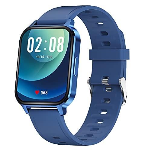 Reloj inteligente Q18, rastreador de fitness, monitor de ritmo cardíaco, contador de calorías, IP68 impermeable reloj deportivo con pantalla HD de 1.7 pulgadas, regalo cálido