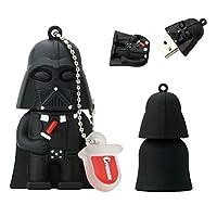 USBメモリ・フラッシュドライブ USBメモリースティックuディスクUSB2.0 漫画 元の スター・ウォーズ Star Wars 部族 シリーズ キャラクター モデリング おかしい 可愛い 目新しさ ポータブル 創造性 贈り物 4~128 GB (16GB,Darth Vader B 1pcs)