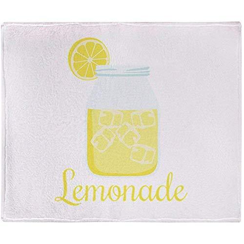 Gooi deken glas Mason Jar roze limonade drank gooien warm gooien deken zachte fleece deken Stadium deken 102X127Cm