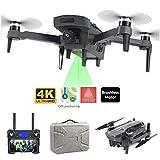 MEIGONGJU Drone 4K HD GPS Suivez-Moi Drone WiFi FPV Quadcopter Moteur Brushless Smart Camera Retour caméra Drone Fly 1800 mètres