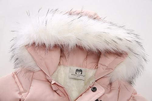 MoccyBabeLee Neugeborene M/ädchen M/ädchen Jungen Schneeanzug Kapuze Strampler Winter Warme Footies Jumpsuit Daunenjacke Mantel Kleidung