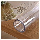 Mantel Transparente Rectangula,Transparente de PVC Impermeable Resistente al Aceite y Resistente a Altas temperaturas,para Mesa Cocina, tocador, mesita de Noche