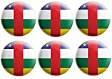 AK Giftshop Anstecknadel mit Flagge der Zentralafrikanischen Republik – Partytütenfüller – Veranstaltungen – Feiern – Sammler – Dekorationen – Sockenfüller (12 Stück)