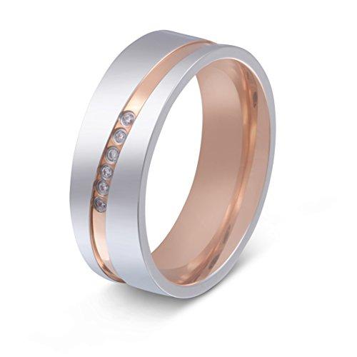 Juwelier Schönschmied - Damen Trauringe Eheringe Paris Titan Zirkonia 50 (15.9) T23Dac
