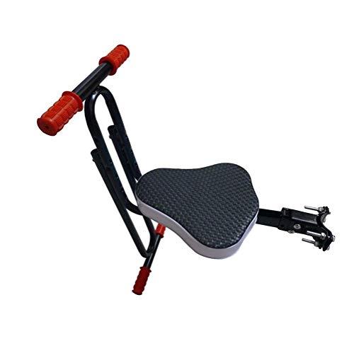 Safe vooraan gemonteerde Children's Bike Seat, Kids Saddle Elektrische fiets Kinderen De veiligheid voorstoel Saddle Cushion dmqpp (Color : Blue)