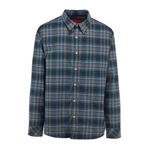 Browning Beacon Men's Flannel Shirt   High-performing stretch flannel shirt for Men, Large, Midnight Navy Plaid