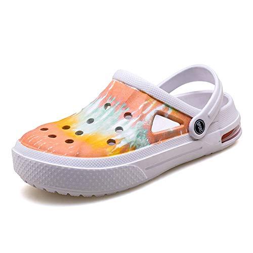 Puremee Womens Garden Clogs Hole Shoes Air Cushion Slip...