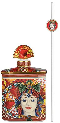 Baci Milano Botella perfumadora Magnum de porcelana, 2,5 l, rojo Joke Sicily