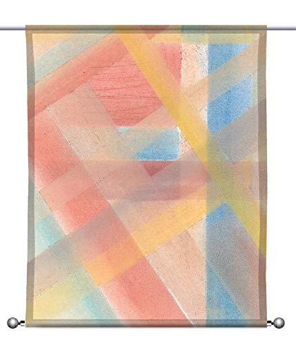 gardinen-for-life Scheibenhänger Woven Bauhaus- rechteckig mit Beschwerung, Toller Scheibenhänger transparent, verschiedenen Größen, Kunstmotiv (HxB 75x60cm)