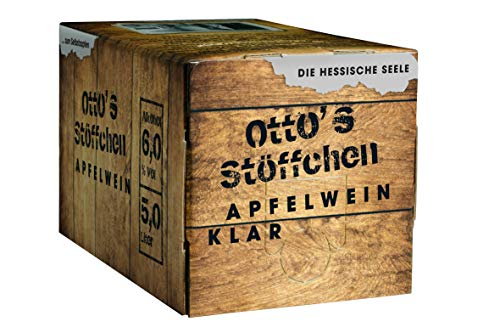 Otto's Stöffchen Apfelwein - Hessischer Apfelwein - Handverlesene Äpfel - Mit Liebe gekeltert - 5 Liter Bag in Box - klar