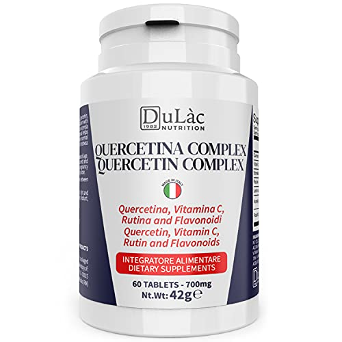 Quercetina Complex 60 Compresse di Quercetina Bromelina Vitamina C Acerola, Dulàc Nutrition Made in Italy, Quercetina Integratore (2 mesi fornitura) per Difese Immunitarie e Antiossidante