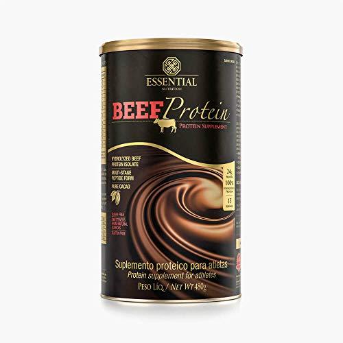 Beef Protein - 480G Chocolate - Essential Nutrition, Essential Nutrition