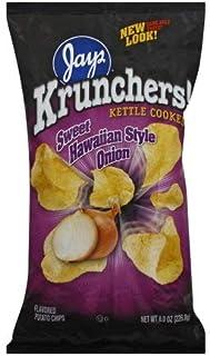 Jays Krunchers Kettle Cooked Sweet Hawaiian Style Onion Chips 8 oz Bag