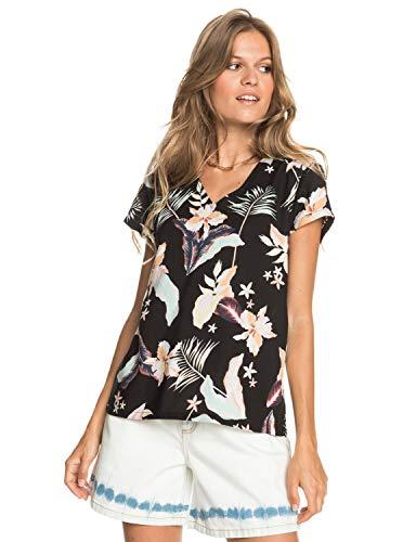 Roxy Camisa de Viscosa con Manga Corta para Mujer Camiseta Mujer