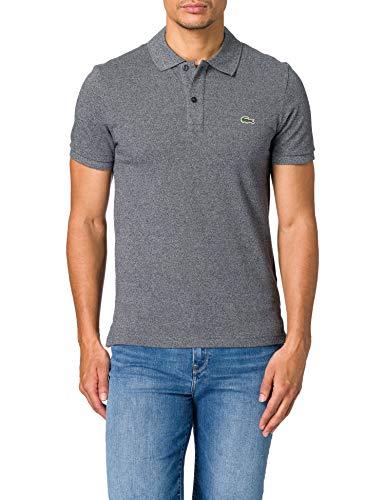 Lacoste Mens PH4012 Polo Shirt Black Eclipse Jaspe E8g Medium