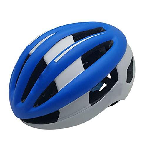 caschi bici da corsa casco mtb uomo Blue Helmet Casco regolabile for la protezione della bicicletta casco da equitazione casco mosquito traspirante Casco da strada di montagna casco bici da corsa uomo