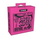 Ernie Ball Super Slinky Electric Guitar Strings 3-Pack - 9-42 Gauge (P03223)