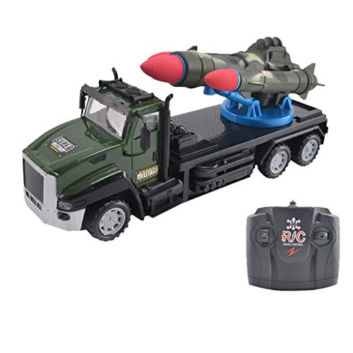 TwoCC Rc Auto, Militär Elektroauto Scheinwerfer Miniaturautos Vier-Wege-Fernbedienung Militär Raketenauto Raketenauto Spielzeugauto für Kinderauto Modell