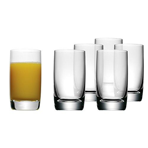 WMF Biergläser Saftgläser-Set sechs Stück easy Plus Kristallglas spülmaschinengeeignet