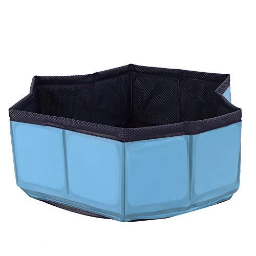 Syuantech Piscina de Baño para Mascotas Plegable Perro Gato Mascota sin Inflación Bañera de PVC Ducha Plegable Piscina de Agua Suministro de Bañera