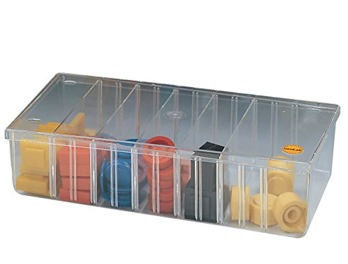 neoLab 2-2055 Kleinteile-Behälter mit Deckel, 285 mm x 140 mm x 70 mm