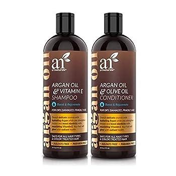 artnaturals Moroccan Argan Oil Hair Loss Shampoo & Conditioner Set -  2 x 16 Fl Oz / 473ml  - Sulfate Free Hair Regrowth - Treatment for Hair Loss Thinning Hair & Hair Growth Men & Women