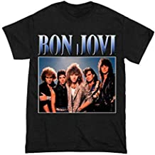 BON JOVI T Shirt XLarge Classic Rocks Metal USA Rocks Crossroad Aerosmith Concert Tour 1990'S Axl Black T Shirt Size Xl