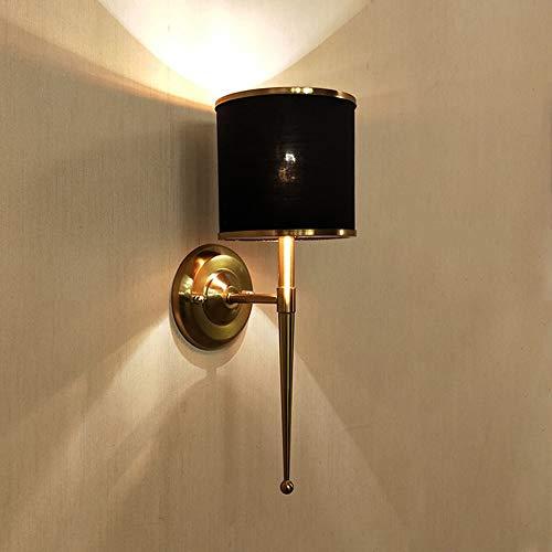 Applique Miroir Lumières Applique 16 * 45cm lumière chaude Vintage Hôtel Simple Tissu Chevet Accueil