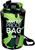 CoolStory 2019 Waterproof Swimming Bag Dry Sack Colors Fishing Boating Kayaking Storage Drifting Rafting Bag,Green,30 L.E