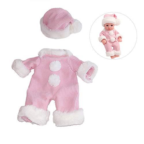 Zeagro Puppenkleidung, Overall, Strampler, Kleid, Kleidungs-Set für 30 cm Simulation Baby-Puppenanzug, Geschenk-Zubehör Schlafanzug 7