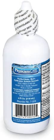 First Aid Only 7 006 Eye Wash Solution 4 oz Bottle Case of 48 product image