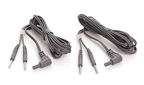2 Cables de conexión 2mm axion | para electrodos TENS y EMS | Compatibles con electrodos con conexión clavija, banana o jack | Electroestimulación efectiva