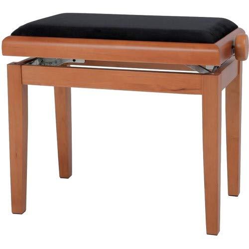 GEWA Piano Bench Deluxe Maple, Black Seat