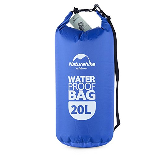 TRRE Voyage en plein air sacs étanches sac dérivantes snorkeling plage natation sac, 5L / 20L / 60L ( Couleur : Bleu , taille : 20L )