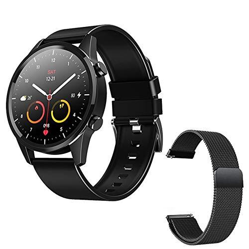 LVF Nuevo F35 Smart Watch Men's Bluetooth Call Impermeable Custom Dial Fitness Tracker Pulsera Deportiva Pulsera Inteligente para Android iOS,B