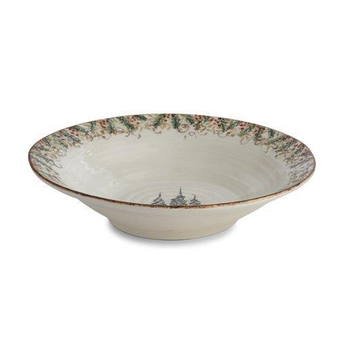 Arte Italica Natale Large Round Serving Bowl, Cream