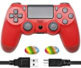 Wireless Controller Compatible with PS4 - Audio Functional Gamepad Remote with Charging Cable Compatible with Playstation 4 /Pro/Slim/PC