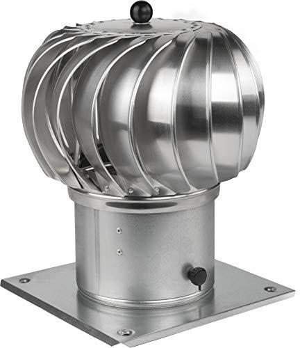 Kaminaufsatz drehbarer Kugelaufsatz Schornsteinaufsatz Lüftungsaufsatz Ofen Kamin Turbo (⌀300mm)