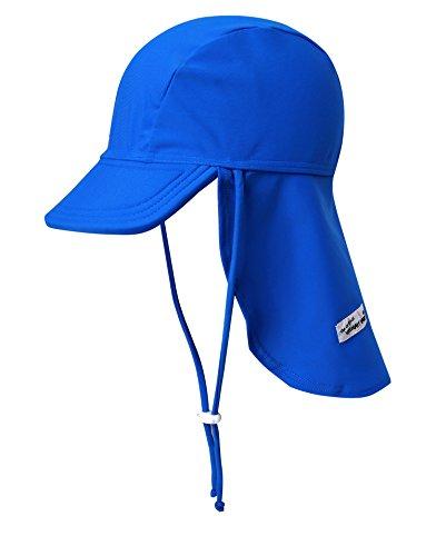 VAENAIT BABY Infant & Kids Boys Sun Protection Sporty Flap Swim hat UV UPF 50+ Flap Cap Blue S