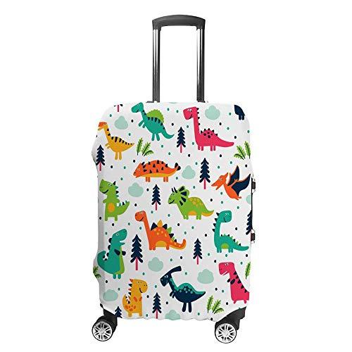 Gepäckabdeckung, verdickt, waschbar, niedlich, interessant, Cartoon-Dinosaurier-Polyester, elastisch, faltbar, leicht, Reisekoffer-Schutz