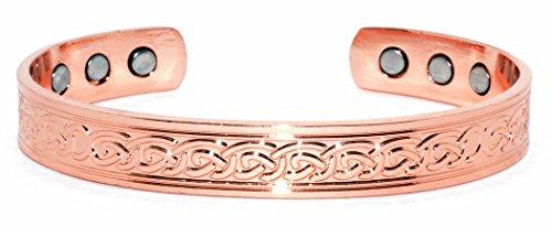 ORIGINE Bracelet magnétique en cuivre: 10 mm Design Celtique SCBC223