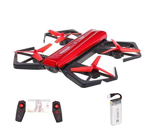 GoolRC T33 Droni WIFI FPV 720P HD Telecamera Quadcopter pieghevole G-sensor Mini RC Selfie Pocket Drone Altezza Hold