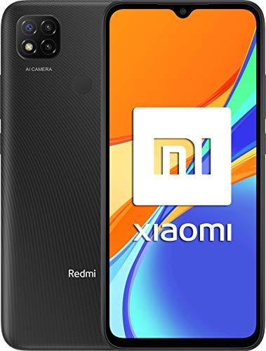 """Xiaomi Redmi 9C NFC-Smartphone de 6.53"""" HD+ (3GB+64GB, 3x cámara trasera de 13MP con IA, MediaTek Helio G35, Batería 5000 mAh, 10 W carga rápida), Gris [Versión ES/PT]"""