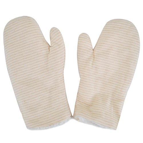 ABBY bébé gants de laine hiver chaud Cachemire tout en doigt de gant enfant (Beige)