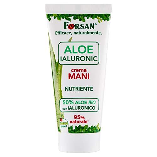 La Tradizione Erboristica Forsan - Crema Mani Aloe Ialuronic - Crema Mani Idratante, con Aloe Vera Bio e Acido Ialuronico di Origine Naturale - 75 ml