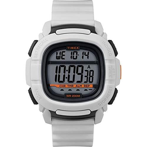 Timex BST.47 TW5M26400 - Reloj con correa de silicona (47 mm), color blanco y plateado