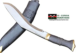 """EGKH. Genuine Hand Forged Khukuri - 13"""" Blade Jungle or PRI Type British Gurkha Kukri, Authentic Khukris Knife Handmade in Nepal"""