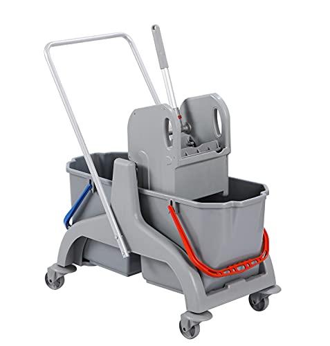BELLANET - Carro de limpieza y limpieza profesional con prensa y 2...
