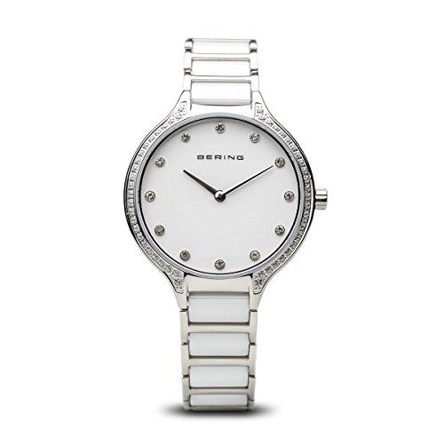 BERING Reloj Analógico para Mujer de Cuarzo con Correa en Acero Inoxidable 30434-754